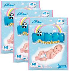 Акция на Подгузники Mimzi Premium NB 2.5-5.5 кг 90 шт 1+1=3 упаковки (MDNB1) (4820209800270) от Rozetka