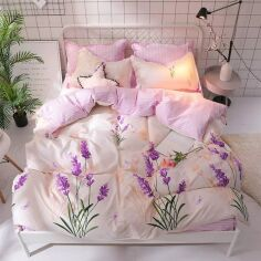 Акция на Комплект постельного белья MirSon Бязь 17-0080 Lorett 2х160х220 см (2200001703636) от Rozetka