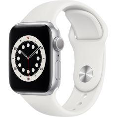 Акция на Смарт-часы APPLE Watch S6 GPS 40 Silver Alum White Sp/B (MG283UL/A) от Foxtrot