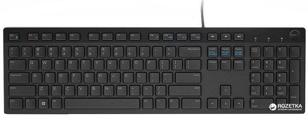 Акция на Клавиатура проводная Dell Multimedia KB-216 USB (580-ADGR) от Rozetka