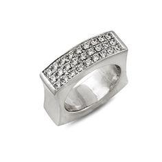 Акция на Кольцо из серебра с куб. циркониями, размер 18 (005597) от Allo UA