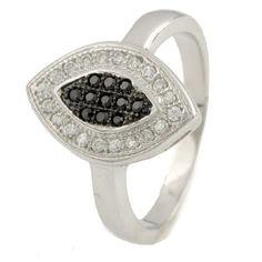 Акция на Кольцо из серебра с куб. циркониями, размер 16.5 (881688) от Allo UA