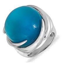 Акция на Кольцо из серебра с корундом (синт.), размер 16.5 (074105) от Allo UA