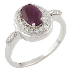 Кольцо из серебра с рубином и куб. циркониями, размер 16.5 (1284256) от Allo UA
