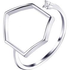 Акция на Кольцо из серебра с куб. цирконием, размер 17 (1686050) от Allo UA