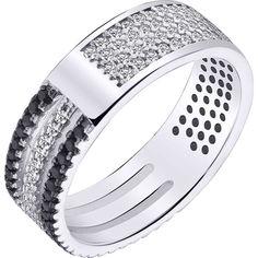 Акция на Кольцо из серебра с куб. циркониями, размер 18.5 (1712031) от Allo UA