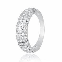 Акция на Кольцо из серебра с куб. циркониями, размер 17 (282547) от Allo UA