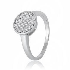 Акция на Кольцо из серебра с куб. циркониями, размер 18 (282584) от Allo UA