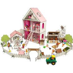 Акция на Кукольный домик FANA для кукол LOL c мебелью, двориком и фермой LITTLE FUN maxi(2125) от Allo UA