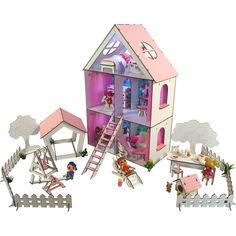 Акция на Кукольный домик FANA для кукол LOL c мебелью и двориком LITTLE FUN maxi (2112) от Allo UA