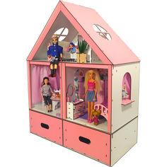 Акция на Кукольный домик FANA Особняк для Барби с мебелью и ящиком для игрушек (3107) от Allo UA