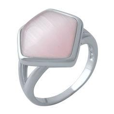 Акция на Кольцо из серебра с кошачим глазом, размер 17.5 (1681063) от Allo UA
