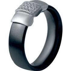 Акция на Кольцо из серебра с куб. циркониями и керамикой, размер 16 (1721543) от Allo UA