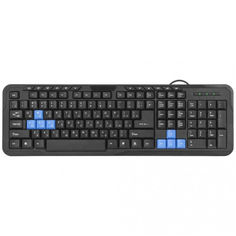 Акция на Компьютерная клавиатура DEFENDER 1 HM-430 USB Black проводная мембранная для ПК от Allo UA