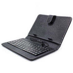 """Акция на Чехол Lesko 7"""" Black с клавиатурой microUSB надежный долговечный для планшета набора текста от Allo UA"""