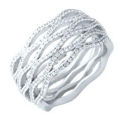 Акция на Кольцо из серебра с куб. циркониями, размер 16.5 (1608713) от Allo UA