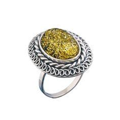 Акция на Кольцо из серебра с янтарем, размер 17.5 (112753) от Allo UA
