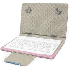 "Акция на Защитный чехол Lesko 7"" Pink с беспроводной клавиатурой с блютуз для удобства чтения набора текста от Allo UA"
