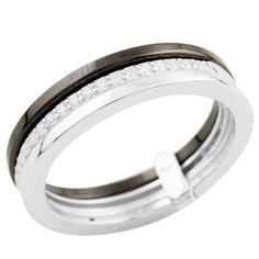Акция на Кольцо из серебра с куб. циркониями, размер 18.5 (1256922) от Allo UA