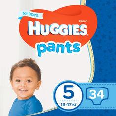 Акция на Подгузники-трусики Huggies Pant 5 (12-17 kg) Jumbo 34 Boy (5029053564289) от Allo UA