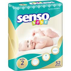 Акция на Детские подгузники Senso Baby мини,размер 2, 3-6 кг, 52 шт  (4810703000544) от Allo UA