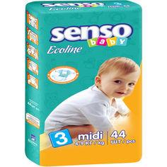 Акция на Детские подгузники  Senso Baby Ecoline миди,размер 3, 4-9 кг, 44 шт  (4810703000858) от Allo UA