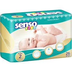 Акция на Детские подгузники Senso Baby мини, размер 2, 3-6 кг, 26 шт  (4810703000193) от Allo UA