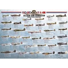 Акция на Пазл Eurographics Истребители 2-й Мировой войны, 1000 элементов (6000-0379) от Allo UA