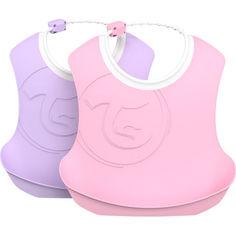 Акция на Набор детских нагрудников Twistshake 4+мес лавандовый/светло-розовый 78219 от Allo UA