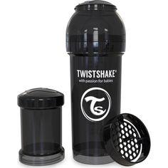 Акция на Антиколиковая бутылочка Twistshake 260мл черная 78043 от Allo UA