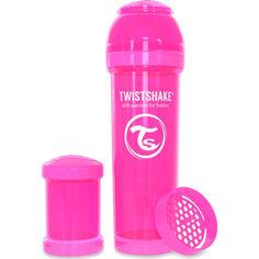 Акция на Антиколиковая бутылочка Twistshake 330 мл розовая 78013 от Allo UA