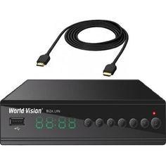 Акция на Комплект ТВ-ресивер World Vision T62A Lan и HDMI кабель от Allo UA