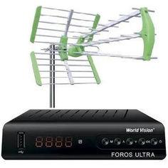 Акция на Комплект Антенна внешняя для Т2 World Vision Maxima L и ресивер World Vision Foros Ultra от Allo UA