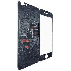 Акция на Защитное стекло DK-Case для Apple iPhone 5/5S Porsche luminescent back/face (dark grey) от Allo UA