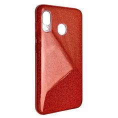 Акция на Чехол-накладка DK Silicone Glitter Heaven Rain для Samsung A20/A30 (red) от Allo UA