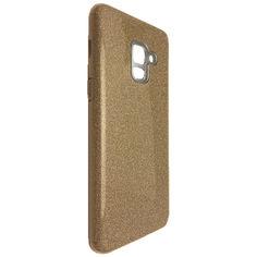 Акция на Чехол-накладка DK Silicone Glitter Heaven Rain для Samsung A8 Plus (gold) от Allo UA