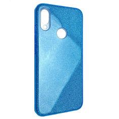 Акция на Чехол-накладка DK Silicone Glitter Heaven Rain для Xiaomi Redmi 7 (blue) от Allo UA