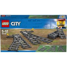 Акция на Конструктор LEGO City Железнодорожные стрелки (60238) от Allo UA