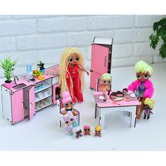 Акция на Мебель для кукольного домика Barbie NestWood Кухня розовая (kmb004) от Allo UA