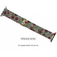 Акция на Браслет Ремешок Milanese Loop для смарт-часов Apple Watch 42-44 мм Flowers Rose (Цветы Розы) от Allo UA