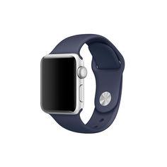 Акция на Силиконовый ремешок Sport Band для часов Apple Watch Dark Blue 40 мм (S/M и M/L) - Темно-синий от Allo UA