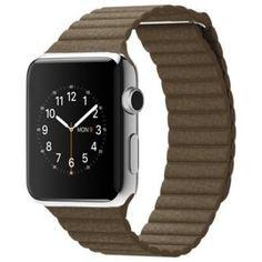 Акция на Ремешок Leather Loop Band для смарт-часов Apple Watch 42 мм Light Brown (Светло-коричневый) от Allo UA