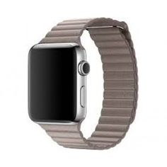 Акция на Ремешок Leather Loop Band для смарт-часов Apple Watch 44 мм Smoke Grey (Серый Дым) от Allo UA