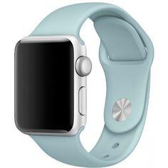 Акция на Силиконовый ремешок Sport Band для часов Apple Watch Turquoise 38 мм (S/M и M/L) - Бирюзовый от Allo UA