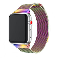 Акция на Браслет Ремешок Milanese Loop для смарт-часов Apple Watch 42 мм Colorful (Красочный) от Allo UA