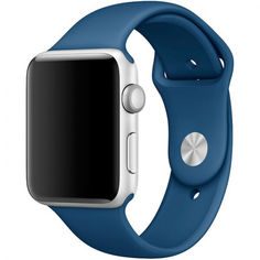 Акция на Силиконовый ремешок Sport Band для часов Apple Watch Ocean Blue 40 мм (S/M и M/L) - Синий океан от Allo UA