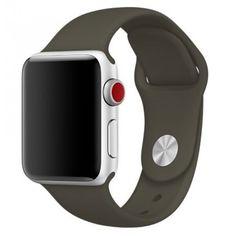 Акция на Силиконовый ремешок Sport Band для часов Apple Watch Dark Olive 38 мм (S/M и M/L) - Темная олива от Allo UA