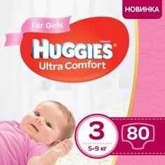 Акция на Подгузники для девочек Huggies Ultra Comfort 3 (5-9 кг), 80 шт. (5029053543604) от Allo UA