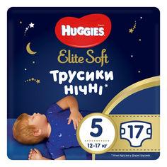 Акция на Подгузники-трусики Huggies Elite Soft Overnites 5 (12-17 кг), 17 шт. (5029053548173) от Allo UA