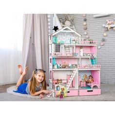 """Акция на Игровой набор """"Большой Особняк для LOL/OMG/Барби"""" кукольный домик с мебелью и аксессуарами (kdl003rmax) от Allo UA"""